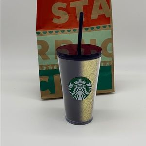Limited addition blue and gold Starbucks cup